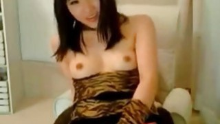 Asian girl with sexy body in red panties