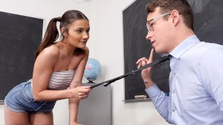 Slutty Adria Really wants to be the Teacher's Pet