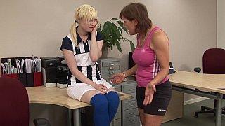 Schoolgirl's lesbo punishment