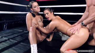 Eva Lovia vs Peta Jensen in the ultimate fuckoff mach