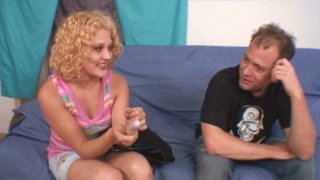 Wonderful slut Shirley Dimples is pro in providing a cock with deepthroat