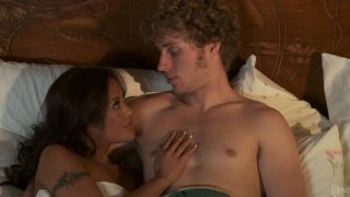 Sweaty whore Kaylani Lei gets hammered hard in a missionary position
