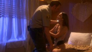 Retro video of an oral sex with Amber Rayne