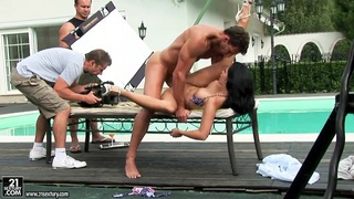 Aletta Ocean getting nailed really hard near the pool