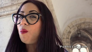 Hot Euro brunette babe banged pov