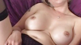 Busty MILF gets her tight cunt screwed by a fat black prick