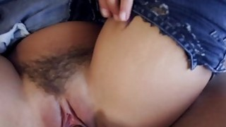 Keisha Grey fucked on her ripped pants